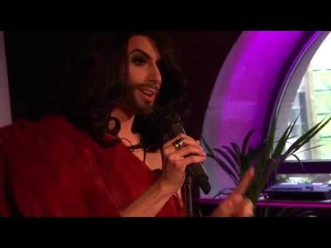 Euro Fan Café - Live Performance Conchita Wurst Austria