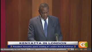 Video Kenyatta visits London Stock Exchange, ring bell download MP3, 3GP, MP4, WEBM, AVI, FLV September 2018