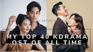 MY TOP 40 KOREAN DRAMA OST OF ALL TIME | 2020