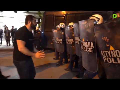Armenia Genocide protesters scuffle with police outside Turkish Consulate in Greece