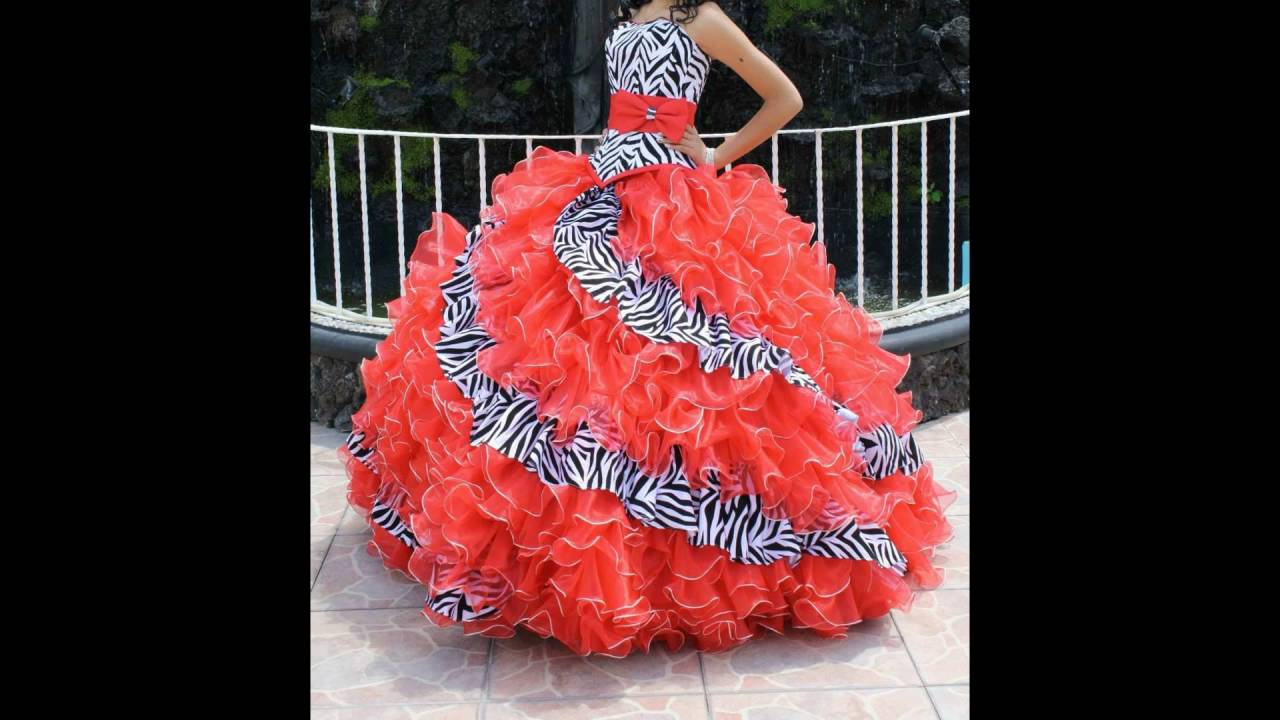 b046925ea4 Los Vestidos De XV Años Mas Bonitos Del Mundo Color Coral !!!! - YouTube