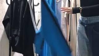 여성 패션 트레이닝복 니트 반집업 정장 세트 평상복 홈…