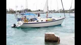 Sailboat Runs Aground in St George's, June 25 2012