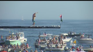 Greasy Pole Winner Fulfills Childhood Dream