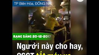 Tài xế đấm CSGT túi bụi bị bắt © Official RFA