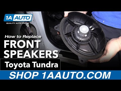 How To Replace Front Door Speakers 14-19 Toyota Tundra