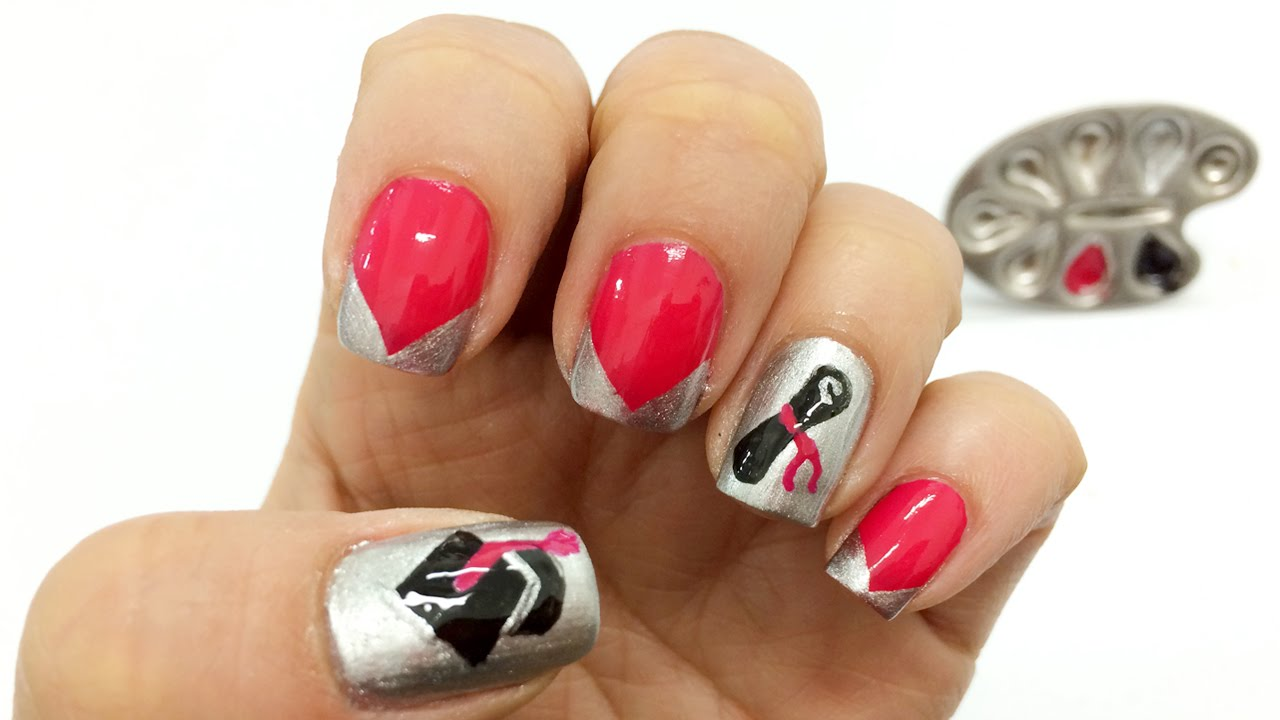 b7cb69efc Decoracion de uñas para Grado - Paso a Paso fácil de Nail Art y Manicure  Prom Nail Art - YouTube
