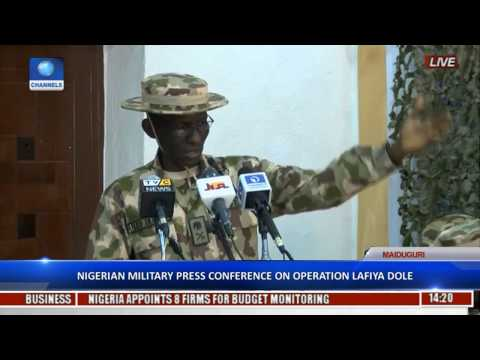 Nigerian Army/Navy/Airforce Update on Fight Against Boko Haram. January 11, 2017