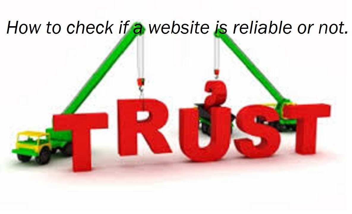 how do i know if a website is reliable