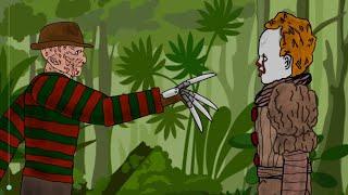 ES Pennywise Vs Freddy Krueger - Zeichnen von cartoons 2