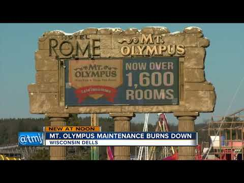 Mt. Olympus Theme Park maintenance building in Wisconsin Dells destroyed by fire