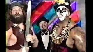 Papa  Shango and Bezerker and The Undertaker and Ultimate Warrior promo