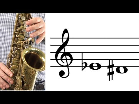 ALTO SAX:  How to Play Low E-flat (D-sharp)