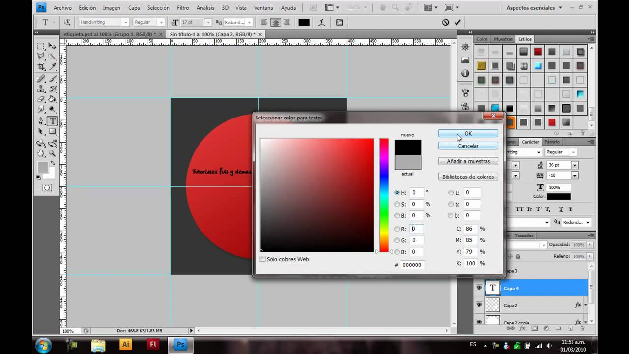Tutorial Photoshop Etiqueta Pegable O Sticker Youtube