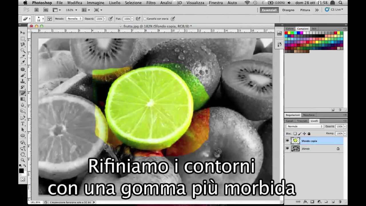 Tutorial Photoshop Cs6 Bianco E Nero Parziale Color Splash