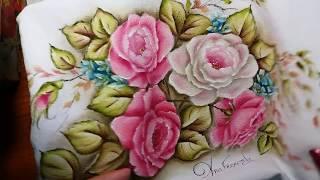 Rosa virada (rosa escuro) vídeo 1 – Pintura em tecido