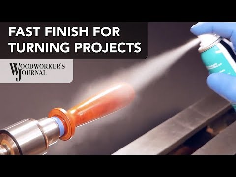 Fast Woodturning Finish with GluBoost Fill n' Finish
