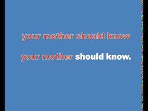 the beatles you mother sould know karaoke