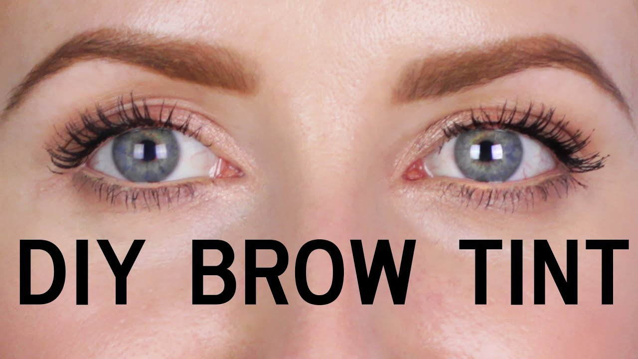 DIY - HOW TO TINT YOUR EYEBROWS AT HOME - YouTube