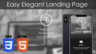 HTML & CSS Easy Elegant Landing Page With Blur Effect
