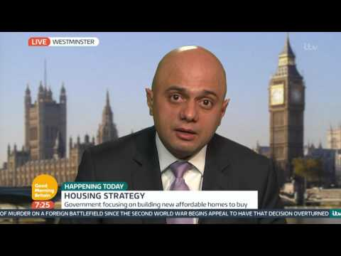 Sajid Javid Talks About The Government's Housing Strategy | Good Morning Britain
