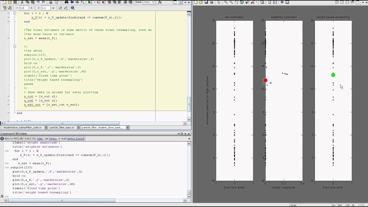 Particle Filter Tutorial With MATLAB Part3: Student Dave