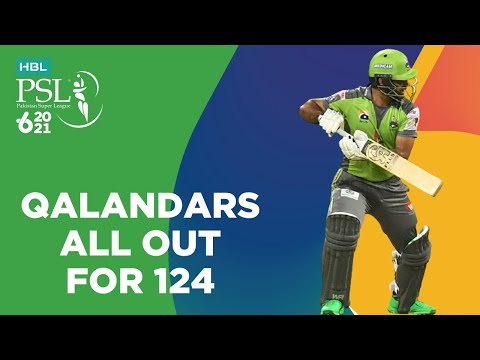 Qalandars All Out For 124   Lahore Qalandars vs Islamabad United   Match 20   HBL PSL 6   MG2T