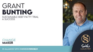 "Grant Bunting | ""Sustainable beef patty trial a success"""