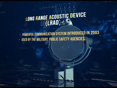 Long Range Acoustic Device (LRAD), ginagamit sa maritime, perimeter security, crowd control