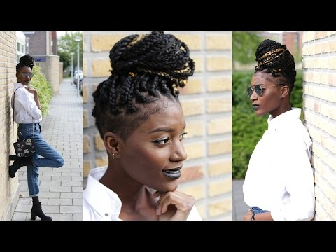 HOW TO: BOXBRAID WITH SHAVED SIDES| Tapered Cut| TWA | Start to Finish