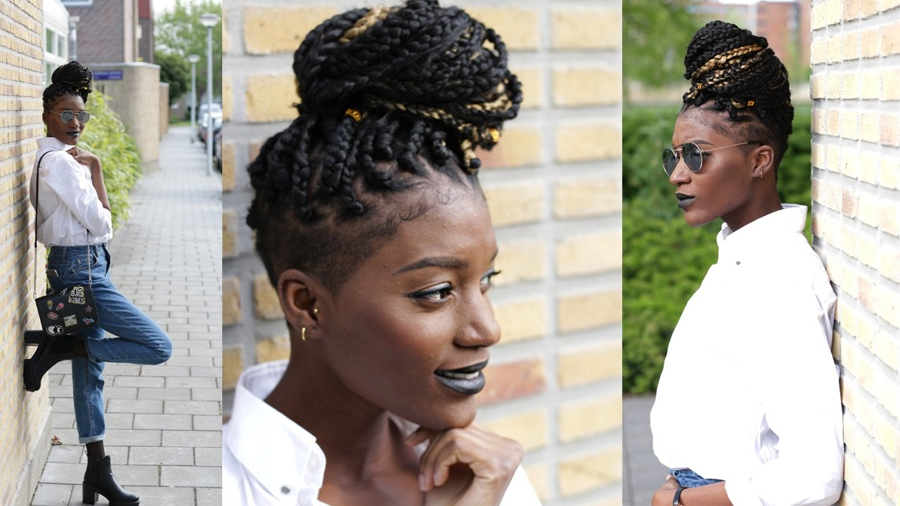 How To Boxbraid With Shaved Sides Tapered Cut Twa