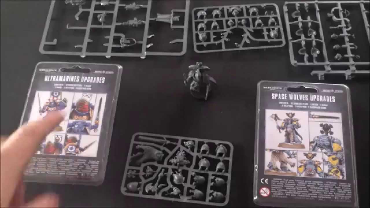 New on Sprue Warhammer 40K Space Wolves Primaris Upgrade Pack