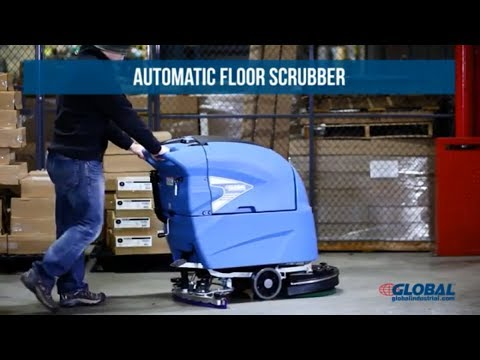 """Global Industrial™ Auto Floor Scrubber 20"""" Cleaning Path"""