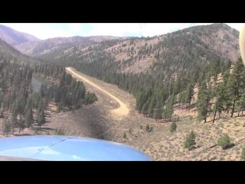 Idaho Backcountry Landing; Indian Creek, Bob and Neil; Cessna Turbo 206; USFS airport