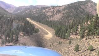 Idaho Backcountry Landing; Indian Creek, Bob and Neil; Cessna Turbo 206; USFS airport