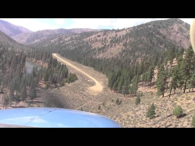 Idaho Backcountry Flying; Indian Creek Landing, Bob and Neil; Cessna Turbo 206; USFS airport