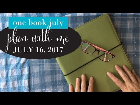 One Book July, Plan with me for July 16, 2017, Weekly Spread, Spreademwidesunday