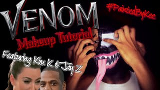 VENOM MakeUp Tutorial (Feat. Kim Kardashian & Jay Z)   #PaintedByKee