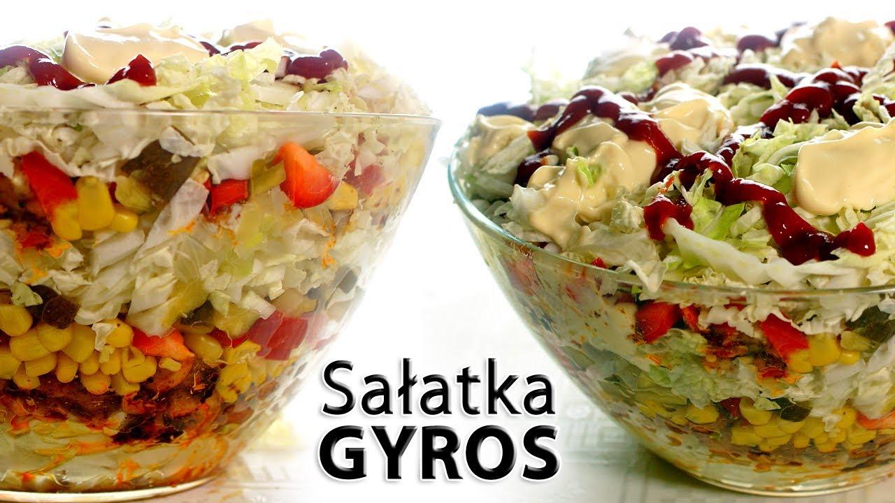 Salatka Gyros Smaczne Przepisy Pl Youtube