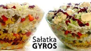 Sałatka Gyros | smaczne-przepisy.pl