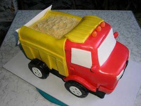 Торт грузовик из мастики