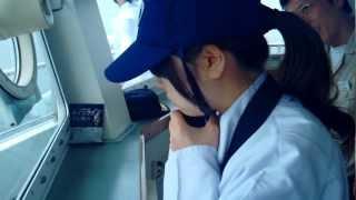 練習船 広島丸 航海実習風景