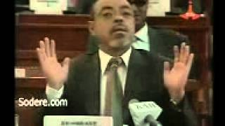 Meles Zenawi The Comedian Funny moments at the Parliament