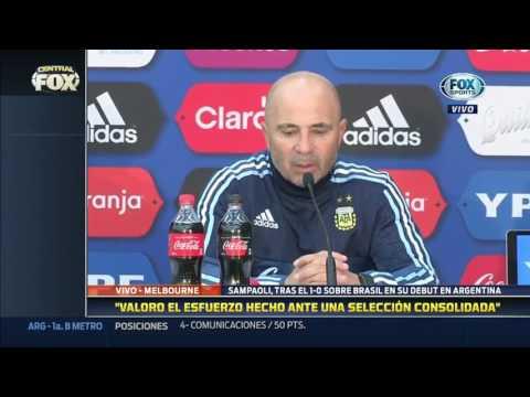 Declaraciones de Sampaoli post Brasil 0-1 Argentina