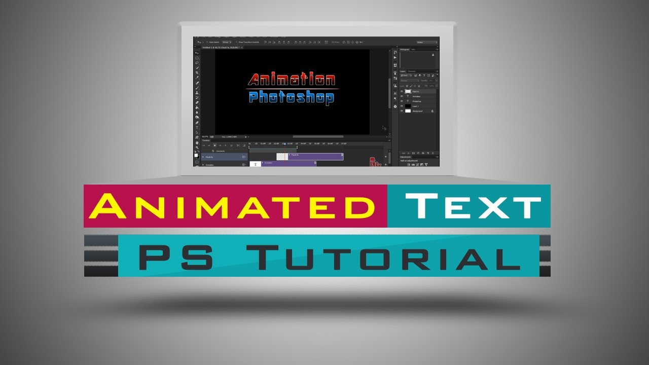Photoshop Text Animation Tutorial | Title Animation in ...