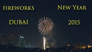 Dubai New Year fireworks 2015 Atlantis, JBR, Palm Jumeirah in Dubai (UAE) WoW!!!