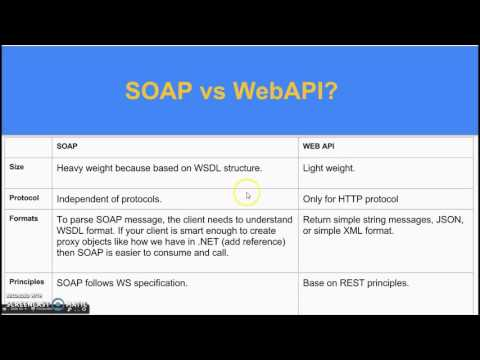SOAP vs WebAPI?