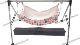 Multipro Quick Set Up Folding Ghodiyu Indian Cradle In 4 Feet Square Pipe