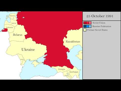 The fall of the Soviet Union: Every tenth of a year