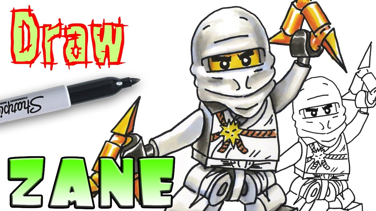 How To Draw Zane Ninjago Coloring Pages Youtube